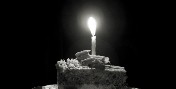 Cake with a candle